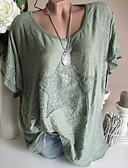 お買い得  携帯電話ケース-女性用 プラスサイズ Tシャツ ベーシック ソリッド / 幾何学模様 グレー