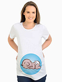 abordables Tops-Mujer Chic de Calle Camiseta Caricatura