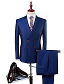 זול חליפות-טוקסידו גזרה רגילה סגור חזה כפול 6 כפתורים כותנה / פוליאסטר אחיד