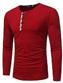 baratos Chapéu Masculino-Homens Camiseta Básico Sólido