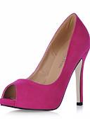 cheap Dresses For Date-Women's Suede Fall / Spring & Summer Classic / Minimalism Heels Stiletto Heel Peep Toe Pink / Light Green / Burgundy / Wedding / Party & Evening