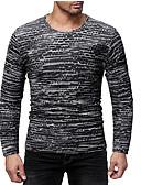 お買い得  新着 メンズシャツ-男性用 パッチワーク Tシャツ ベーシック ソリッド