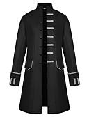 ieftine Regina Vintage-Doctor de ciumă Steampunk Gothic Style Retro / Vintage Punk Stand Collar Costume Bărbați Geacă Roșu / Verde / Albastru Vintage Cosplay Poliester Petrecere Manșon Lung Stand