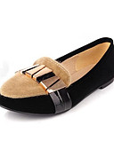 cheap Vintage Dresses-Women's Suede / Microfiber Spring Sweet / Minimalism Flats Flat Heel Pointed Toe Bowknot / Sequin Black / Khaki