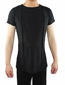 cheap Latin Dancewear-Latin Dance Tops Men's Performance Polyester / Cotton Ruching Short Sleeve Top