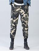economico Pantaloni e pantaloncini da uomo-Per uomo Moda città Taglie forti Chino Pantaloni - Camouflage Nero