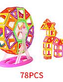 hesapli Asker Saat-Manyetik blok Manyetik Fayans 78 pcs geometrik Desen Hepsi Genç Erkek Genç Kız Oyuncaklar Hediye