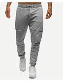 お買い得  メンズパンツ&ショーツ-男性用 ベーシック コットン スウェットパンツ パンツ - ソリッド ダックグレー