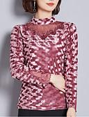 povoljno Bluza-Majica s rukavima Žene Dnevno Geometrijski oblici / Color block Print