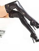 זול זנטאי (חליפות גוף)-חליפות Zenta רובין הוד גרביים וגרביונים Catsuit Ninja מבוגרים לטקס תחפושות קוספליי גרביונים חג ליל כל הקדושים בגדי ריקוד נשים לבן / שחור / אודם תחרה האלווין (ליל כל הקדושים) קרנבל נשף מסכות