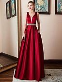Χαμηλού Κόστους Γυναικεία Φορέματα-Γυναικεία Μεγάλα Μεγέθη Βασικό Θήκη Φόρεμα - Μονόχρωμο Μακρύ Λαιμόκοψη V / Sexy