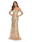 cheap Women's Dresses-Women's Party Elegant Maxi Bodycon Dress Backless Sequins Off Shoulder Gold M L XL / Sexy