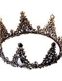 povoljno Stare svjetske nošnje-Crni labud Kruna Povorka maski Vintage Gothic Lolita Barroco Elegantno Okrugle naušnice Tiaras čelo kruna Za Maškare Prom Svadba Žene Djevojčice Kristal Zlato Nakit odjeće