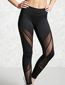 זול טייצים-בגדי ריקוד נשים ספורטיבי צועד - קולור בלוק, לגזור מותן בינוני שחור M L XL / רזה