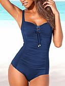 preiswerte Einteilie Badeanzüge-Damen Sport Grundlegend Gurt Schwarz Marineblau Wein Dreieck Cheeky-Bikinihose Einteiler Bademode - Solide Rückenfrei L XL XXL Schwarz / Super Sexy