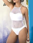 זול בגדי ים וביקיני-נורמלי פוליאסטר בגדי ים & ביקיני סקסית אחיד לבוש יומיומי בד בהצלבה