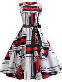 povoljno Vintage kraljica-Žene A kroj Haljina Color block Iznad koljena / Sexy