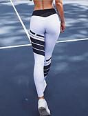 hesapli Taytlar-Kadın's Spor Legging - Zıt Renkli, Desen Orta Bel Beyaz M L XL / Dar