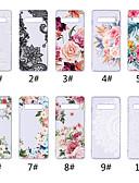 halpa Puhelimen kuoret-Etui Käyttötarkoitus Samsung Galaxy S9 / S9 Plus / S8 Plus Läpinäkyvä / Kuvio Takakuori Lace Printing / Kukka Pehmeä TPU