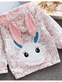 billige Ytterklær til baby-Baby Jente Grunnleggende Blomstret Langermet Normal Polyester Dress og blazer Rosa