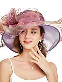 halpa Tyttöjen mekot-Organza Kentucky Derby Hat / fascinators / Pään koriste kanssa Kukkakuvio / Porrastettu 1 Kappale Juhlat / Liiketoiminta / Seremoniat / Häät Päähine