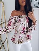 baratos Macacões & Macaquinhos-Mulheres Camiseta Moda de Rua Estampado, Floral