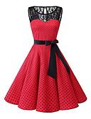 povoljno Ženske haljine-Žene Veći konfekcijski brojevi 1950-te A kroj Haljina - Čipka, Na točkice Do koljena / Sexy