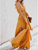 billige Kjoler med tryk-Dame Strand Swing Kjole Maxi V-hals