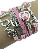povoljno Kvarcni satovi-Žene Pink Zamotajte Narukvice U obliku pletenice Srce slatko Žica Narukvica Nakit Pink Za Vjenčanje Svečanost