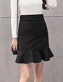 cheap Women's Skirts-Women's A Line Skirts - Solid Colored Black M L XL / Slim