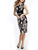 povoljno Ženske haljine-Žene Elegantno Bodycon Haljina Geometrijski oblici Do koljena