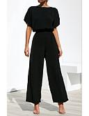 hesapli İki Parça Kadın Takımları-Kadın's Temel Salaş Bluz Solid Pantolon