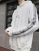 cheap Men's Hoodies & Sweatshirts-Men's Casual Hoodie - Letter White L