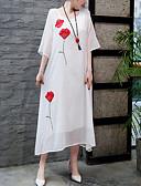 זול שמלות מיני-מקסי דפוס, פרחוני - שמלה ישרה סווינג וינטאג' אלגנטית בגדי ריקוד נשים