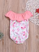 billige Babydrakter-Baby Jente Aktiv / Grunnleggende Trykt mønster Trykt mønster Ermeløs Bomull Body Regnbue