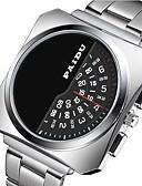 levne Luxusní hodinky-Pánské Hodinky k šatům Křemenný Nerez Černá / Stříbro Odolný vůči nárazu Cool Digitální Luxus Módní - Bílá Černá Stříbrná Jeden rok Životnost baterie