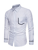 cheap Men's Shirts-Men's Shirt - Polka Dot White L