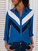 economico Bluse da donna-Blusa Per donna Monocolore Colletto Blu XL
