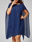 halpa Pluskokoiset mekot-Naisten Perus Tuppi Mekko - Yhtenäinen Reisipituinen