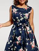 זול שמלות נשים-עד הברך שמלה סווינג רזה בגדי ריקוד נשים