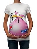 povoljno Majice-Majčinski Majica s rukavima Žene Životinja Kolaž / Print Plava
