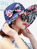 cheap Women's Hats-Women's Active Cute Cotton Polyester Sun Hat-Floral Print Fall Winter Navy Blue Fuchsia Light Blue