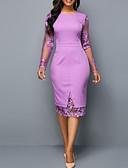 cheap Romantic Lace Dresses-2019 New Arrival Dresses Women's Basic Sheath Dress Elbise Vestidos Robe Femme - Solid Colored Lace Purple L XL XXL