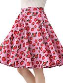 preiswerte Damen Röcke-Damen Baumwolle Schaukel Röcke - Frucht