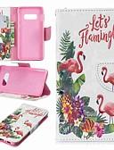 halpa Puhelimen kuoret-Etui Käyttötarkoitus Samsung Galaxy S9 / S9 Plus / S8 Plus Lomapkko / Korttikotelo / Tuella Suojakuori Flamingo Kova PU-nahka