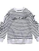 billige Piketopper-Barn Jente Aktiv / Gatemote Lapper Blonde / Lapper / Broderi Langermet Rayon T-skjorte Hvit