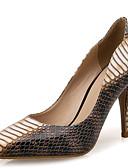 povoljno Bluza-Žene Lakirana koža Proljeće ljeto / Jesen zima minimalizam Cipele na petu Stiletto potpetica Krakova Toe Bež / Kava / Zabava i večer