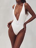 זול ביקיני ובגדי ים-לבן S M L גב חשוף אחיד, בגדי ים חלק אחד (שלם) נועזת לבן שחור פוקסיה ספורטיבי בסיסי בגדי ריקוד נשים