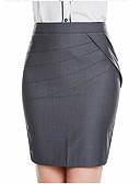 cheap Women's Skirts-Women's Chinoiserie Bodycon Skirts - Solid Colored Black Blue Gray XS S M / Slim