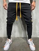 お買い得  メンズTシャツ&タンクトップ-男性用 ストリートファッション EU / USサイズ スウェットパンツ パンツ - レタード グリーン